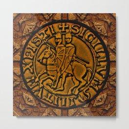 Medieval Seal of the Knights Templar Metal Print