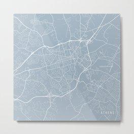 Athens Map, USA - Slate Metal Print