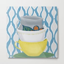 Cups in a stack Metal Print