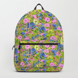 Wild GardenPink on Lime Backpack