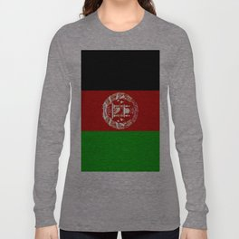 Flag Of Afghanistan Long Sleeve T-shirt