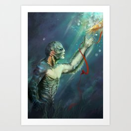 Shape of Water Art Print