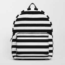 Abstract Black and White Stripe Lines 15 Backpack