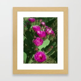 Cactus Burn Framed Art Print