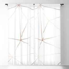 White Marble Blackout Curtain