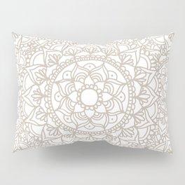 Grey and White Mandala Pattern Custom Pillow Sham