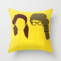 moonrise kingdom Throw Pillows featuring Moonrise Kingdom by Minimalist Portraits