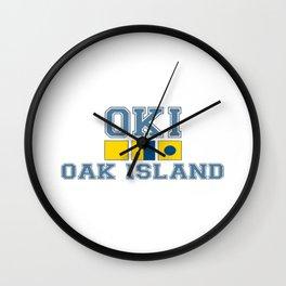 Oak Island - North Carolina. Wall Clock