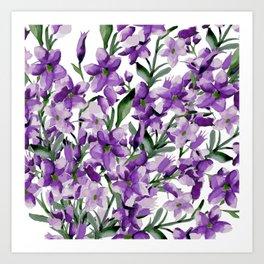 Lilac. Watercolor Art Print