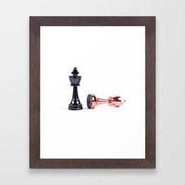 chess pieces Framed Art Print