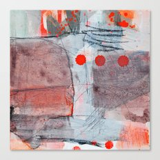 grey red 2 Canvas Print