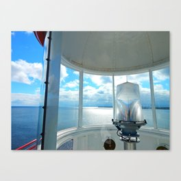 Souris Lighthouse View from the Top Canvas Print