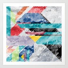 Block Texture Art Print
