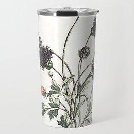 Watercolour of Ranunculus Travel Mug