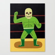 The Glowing Skull Canvas Print