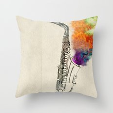 SAX Throw Pillow