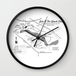Lake O' The Woods Map O' The Grounds Wall Clock