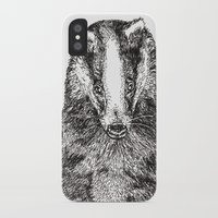 badger iPhone & iPod Cases featuring Badger by Meredith Mackworth-Praed