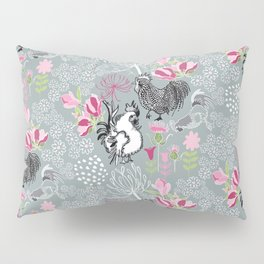 Magnolia Roosters Pillow Sham