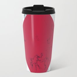 Red + Marble Travel Mug