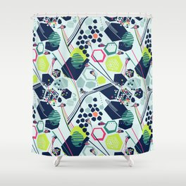 electric beehive Shower Curtain