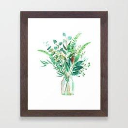 greenery in the jar Framed Art Print