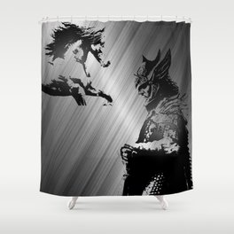 WARRIOR AND HORSE Shower Curtain