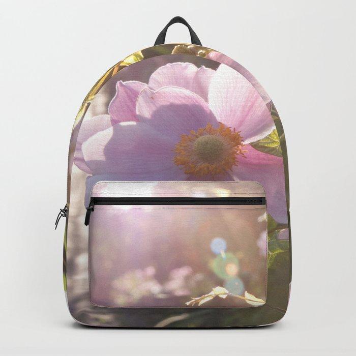 Light Pink Summer Flowers at backlight #1 #art #society6 Backpack