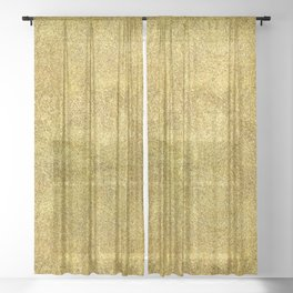 Antique Gold Glitter Sheer Curtain