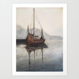 Lonely Viking Art Print