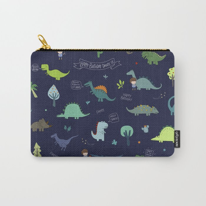Dante Dinosaur Carry-All Pouch