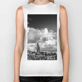 Istanbul: A Fusion of Black and White Biker Tank