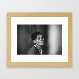 A Burmese Portrait Framed Art Print