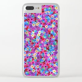 FLOWER MEADOW Clear iPhone Case