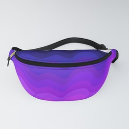 Retro Ripple in Purples Fanny Pack