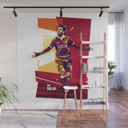 colorful illutration of mohamed salah Wall Mural