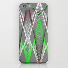 Graphic in red and green triangles iPhone Case
