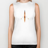 rowing Biker Tanks featuring The Serenity of Sculling by Rabassa
