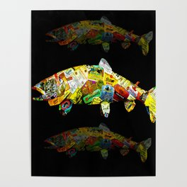 FATHER  LIKES FISH AND BOURBON POP ART Poster