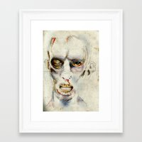 zombie Framed Art Prints featuring Zombie by Michael Scott Murphy