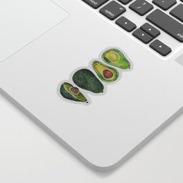 Avocado Slices Sticker
