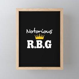 Notorious RBG Framed Mini Art Print