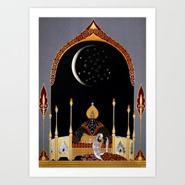 "Art Deco Exotic Design ""In the Casbah"" Art Print"