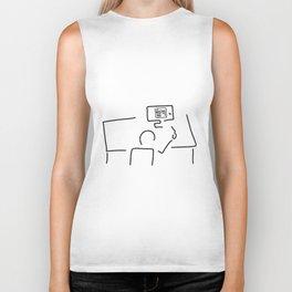 web designer graphic artist Biker Tank
