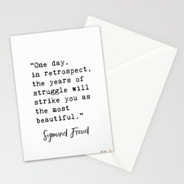 Sigmund Freud quote Stationery Cards