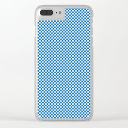 Twilight Nebulas Blue and White Mini Check 2018 Color Trends Clear iPhone Case