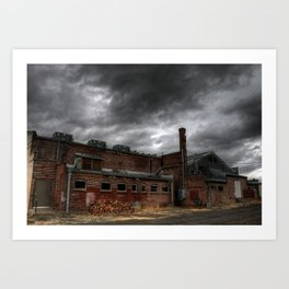 Behind the Old Theatre Art Print