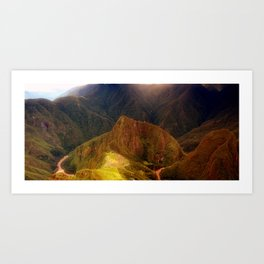THE MACHU PICCHU VALLEY- PANORAMIC VIEW Art Print