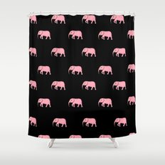 pink elephants Shower Curtain