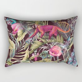 Fantasy in the nocturnal tropical jungle Rectangular Pillow